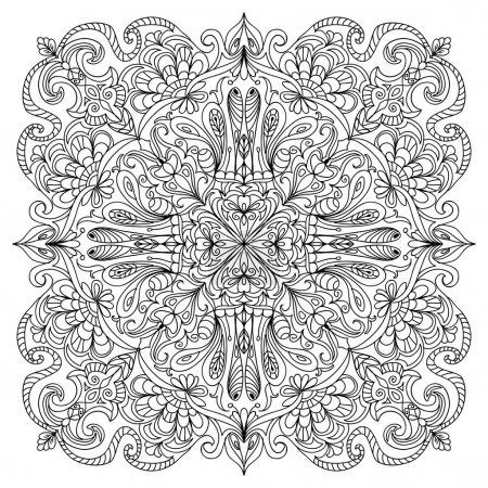 Photo for Abstract mandala zentangle - Royalty Free Image