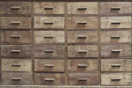 Photo pour Médecine antique armoire texture - image libre de droit