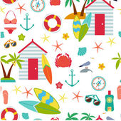 Seamless pattern with flat travel icons eps 10