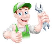 Cartoon Mechanic plumber