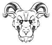 Ram character illustration of a ram sports mascot or animal character