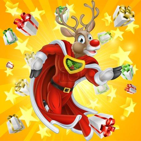 Christmas Reindeer Superhero