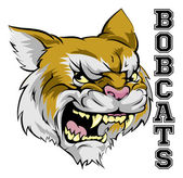 An illustration of a cartoon bobcat sports team mascot with the text Bobcats