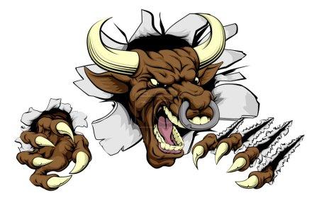Bull sports mascot concept