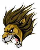 Lion mascot character
