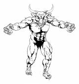 Minotaur bull scary sports mascot