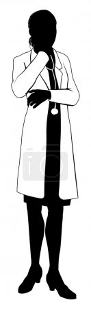 Female doctor silhouette