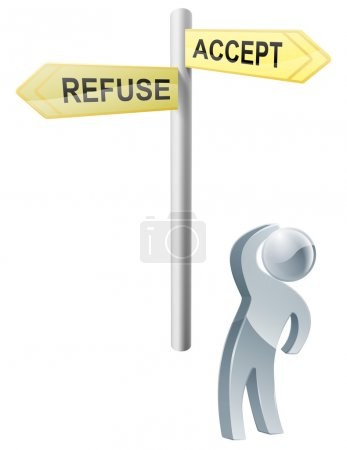 Accept or refuse choice