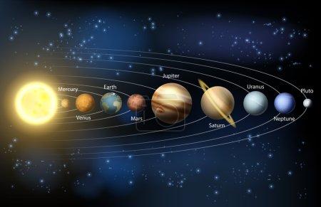 Illustration pour Illustration des planètes de notre système solaire. - image libre de droit