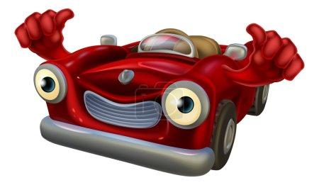 Thumbs up cartoon car