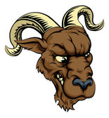 A ferocious mean looking ram animal character mascot head