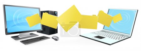 Computer laptop folder transfer