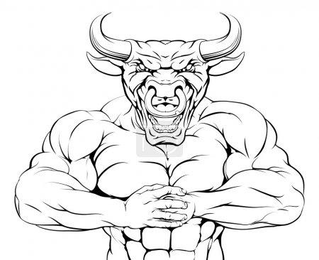 Bring it bull mascot