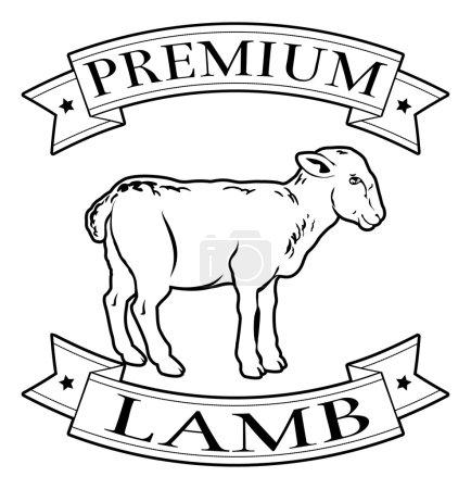 Premium lamb food label