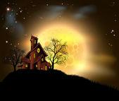 Halloween strašidelný dům