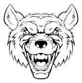 Wolf mascot head