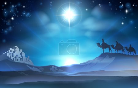 Christmas Nativity Star and Wise Men