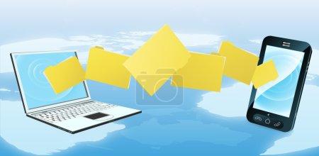 Laptop phone folder transfer
