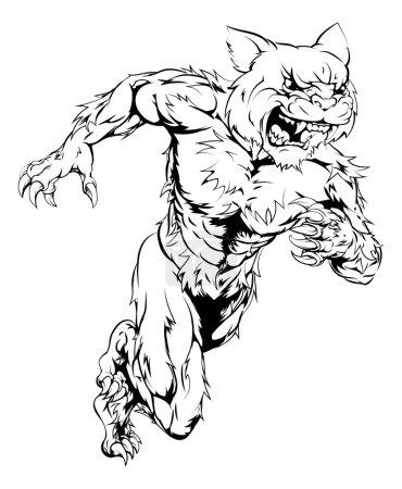 Wildcat sports mascot running