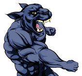 Punching panther mascot