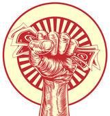 Fist cash money concept