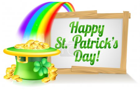 Signe de Happy St Patricks Day