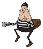 Thief or burglar cartoon