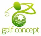 Golfer Icon Illustration