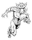 Mean boar character
