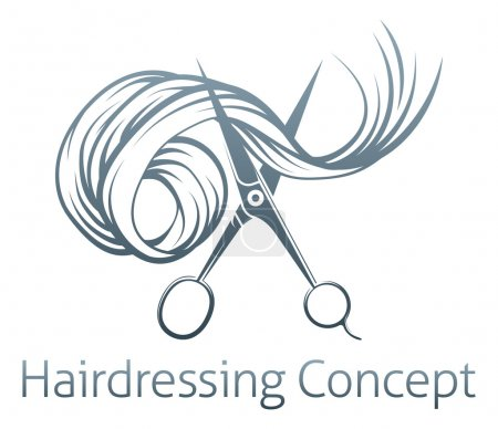 Hairdressers Scissors Concept of a pair of hairdre...