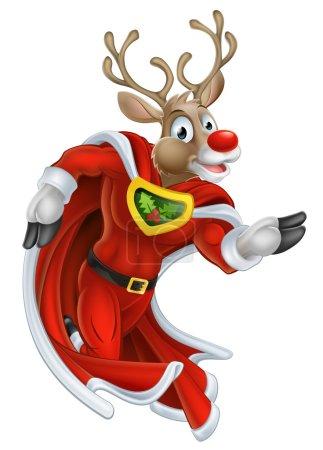 Christmas Reindeer Super Hero