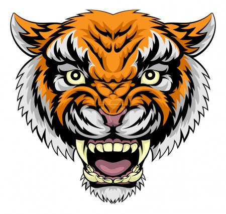 Tiger face illustration
