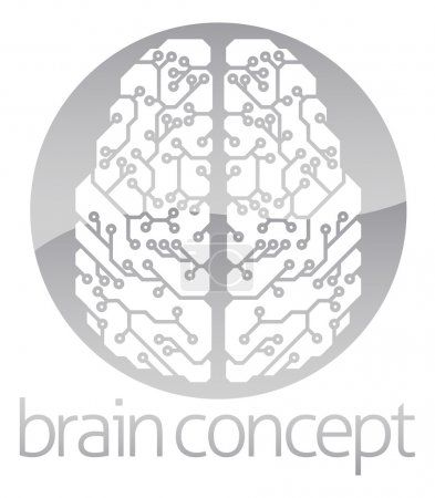 Illustration for An abstract illustration of an electronic brain, ai artificial intelligence circle concept design - Royalty Free Image