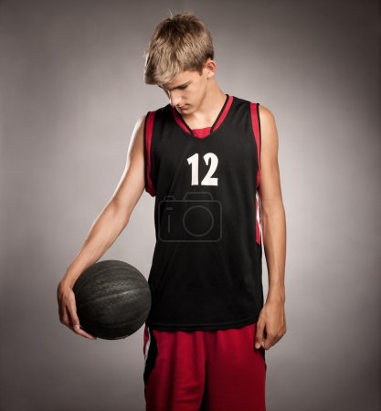 Portrait of basketball player