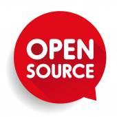 Open Source button vector
