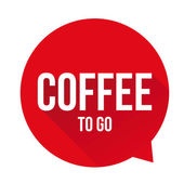 Coffee to go sign speech bubble