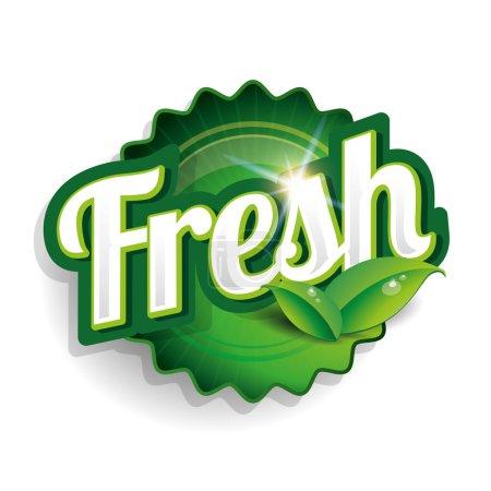 Illustration for Fresh food label, badge or seal - Royalty Free Image