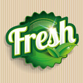 fresh food label badge or seal
