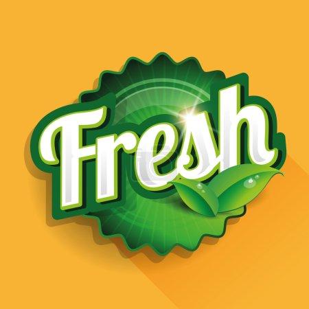 Fresh food label, badge or seal...