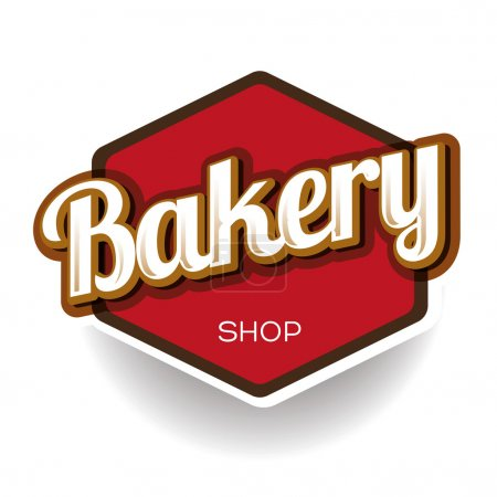Bakery vector label...