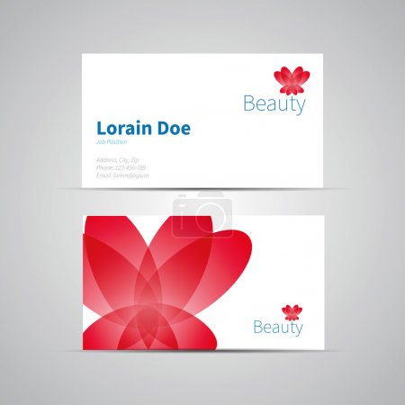 Business Card template, vector icon for Beauty Industry