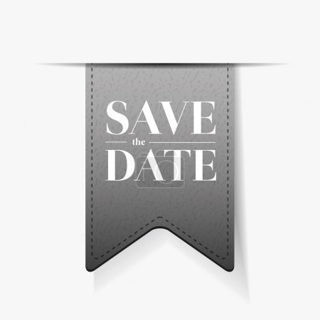 Illustration for Save the date ribbon vector - Royalty Free Image
