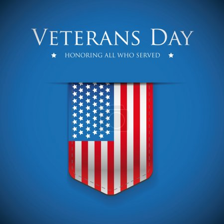 Veterans Day. Honoring all who served. Usa flag vector