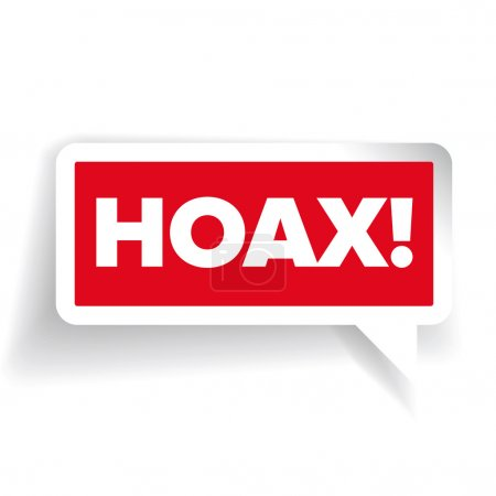 Internet Hoax warning label vector