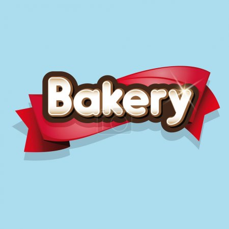 Bakery sign or logo vector