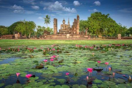 Photo for Sukhothai historical park, the old town of Thailand in 800 year ago - Royalty Free Image