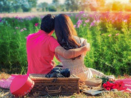 jeune couple amoureux