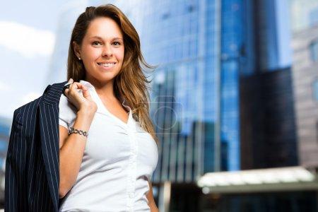 Confident businesswoman outdoor