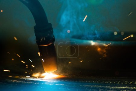 Photo for Detail of an automatic welding machine - Royalty Free Image
