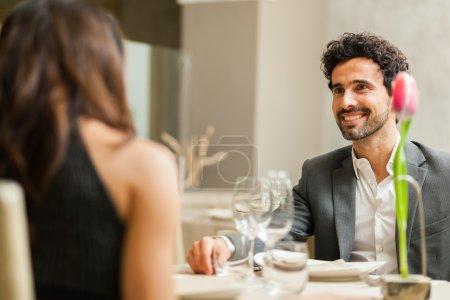 Couple having date in restaurant